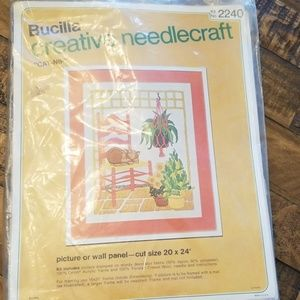 Vintage 70's Bucilla creative Needlecraft Kit 2240